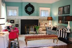 Everything in this room was purchased from a thrift store, consignment shop, craigslist or ebay!!!  Look at how fabulous!