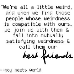 Best Friends Boy Meets World Quote