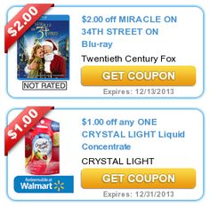 SmartSource Coupon: B2G1 FREE MiO Or Crystal Light! | Printable Coupons |  Pinterest | Crystal Lights And Printable Coupons Photo Gallery