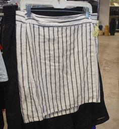 This black and white striped skirt is darling!