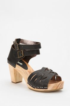 Kimchi Blue Strappy Leather & Wood Heel    $49.00