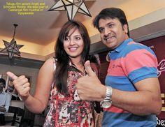 Geetanjali Movie team, Anjali and SR Hulchal in Vijayawada