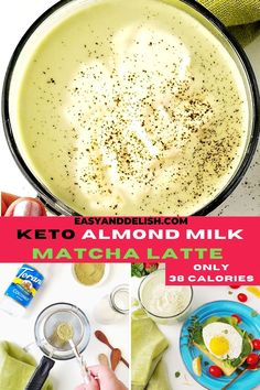 How about a comforting, hot ALMOND MILK MATCHA LATTE to start your day? AD It is made with only 4 ingredients in 5 minutes, including @ToraniFlavor Sugar-Free Coconut Syrup which is available at a @walmart near you. Our tasty tea is sugar-free, dairy-free, gluten-free, keto, and only has 38 calories per cup. Let's welcome 2021 with Hot Tea Month, celebrating sans booze as we cleanse during Dry January. Get this healthy drink recipe now! #toraniteatime #torani #dryjan #hotteamonth #teatime Matcha Latte Recipe, Healthy Fruit Snacks, Easy Keto Meal Plan, Coconut Syrup, Other Recipes, Free Recipes, Dairy Free, Gluten Free, Tasty