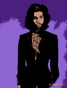 PRINCE artwork by #sonofellis