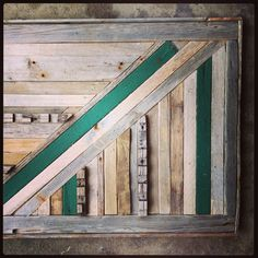 NJ collected reclaimed wood wall art.