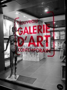 Adhésif vitrine cristal rouge galerie Carré d'Artistes Paris 6