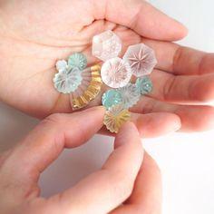 #山本真衣ハッシュタグ - Instagram • 写真と動画 China Patterns, Displaying Collections, Color Theory, Soft Colors, Glass Jewelry, Photo Art, Resin, Arts And Crafts, Carving