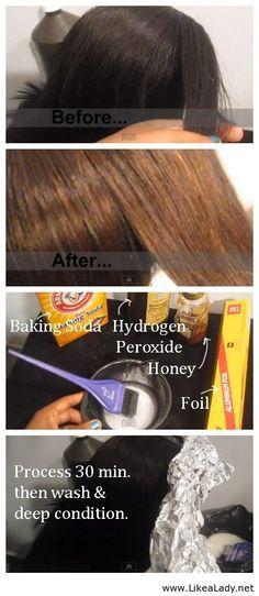 Natural hair lightener.