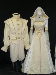 wedding set, bride and groom set, medieval dress, doublet set, gents renaissance set, handfasting dress, renaissance dress, custom made