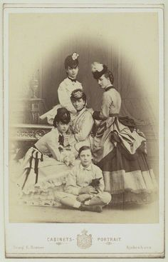 Queen Louise of Denmark with her children Alexandra, Dagmar, Waldemar, & Thyra