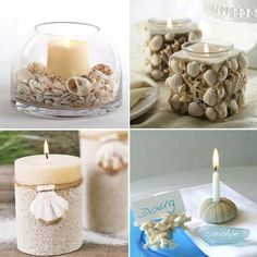 Net > Home decor trends for Years Candels, Pillar Candles, Seashell Painting, Seashell Crafts, Home Decor Trends, Candle Making, Coastal Decor, Sea Shells, Candle Holders