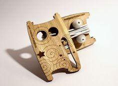 Personalized Owl Laser cut wood Earphone by WildDesignFactory