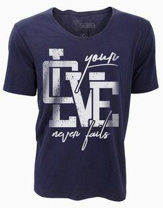 """Camiseta """"Seu Amor Não Falha"""""""