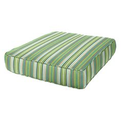 Welted edges give fun style to this Cushion Source 24 x 27 in. Striped Deep Seating Sunbrella Chair Cushion , while CumuPlush filling ensures luxurious. Outdoor Chair Cushions, Outdoor Chairs, Outdoor Living Areas, Living Spaces, Cushion Source, Sunbrella Fabric, Deep, Perfect Pillow, Home Furnishings