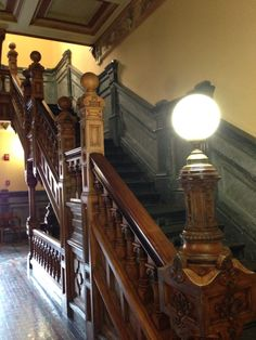 The beautiful staircase in the Miami County Courthouse in Troy, Ohio.