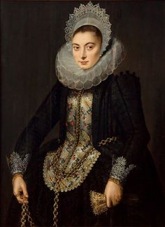century portrait of a lady Renaissance Mode, Renaissance Fashion, Historical Costume, Historical Clothing, Fashion History, Fashion Art, 17th Century Fashion, 18th Century, Renaissance Portraits