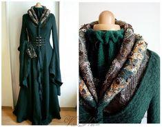 Lady Catelyn Tully Stark garment, Game of Thrones cosplay, medieval larp costume Sansa Stoneheart dress - Volto-Nero.com