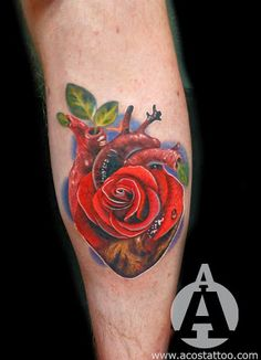 Rose Heart Tattoo - Cardiology Nurse Tattoo Idea?