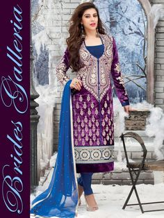 Krishma Kotak Velvet Punjabi Suit Designs 2015 | GlobleStyle