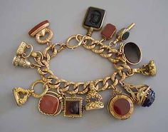 1850-1890 Victorian watch fob bracelet
