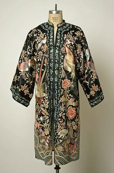 Chinese silk brocade coat with embroidery circa early 20th century from The Metropolitan Museum of Art