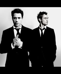 Robert Downey Jr . and Jude Law <3