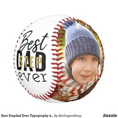 Best Stepdad Ever Typography 2 Photo Black Gold Baseball Stepdad Fathers Day Gifts, Father's Day Specials, Multi Picture, Black Gold, Black And White, Simple Colors, Photo Black, 2 Photos, Funny Design