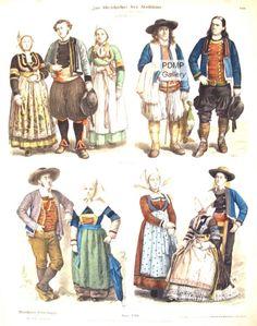 French Folk Dress