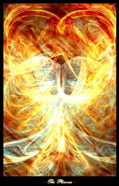 Phoenix Artwork The Flaming Bird - A phoenix is a mythical bird that is a fire spirit with a colorful plumage and a tail of gold and scarlet...