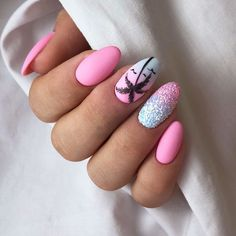 The most popular nail design in hot summer is palm tree nail art design. Palm and coconut trees are hard to tell apart, and we don't need to tell them apart. We just need to know that it's never wrong to use Palm Tree nail art designs in summer. Short Nail Designs, Nail Art Designs, Nails Design, Beach Nail Designs, Winter Nails, Summer Nails, Spring Nails, Nail Ideas For Summer, Summer Vacation Nails