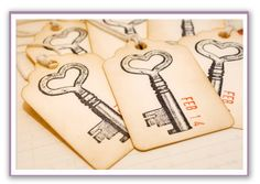 wedding invitations with skeleton key   saw them show up a lot in escort cards this would be