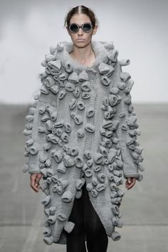 The Darker Horse: Barnacle Embellishment | Dud-Zin-Ska F/W 2014 | see also fungus sweater and othr