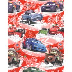 disney cars christmas gift wrap
