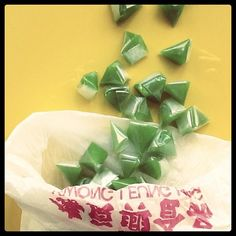 Trunkitchen: delicious, coconut-flavored #Thai #rice gelatin candies brought back from a market in #HongKong.