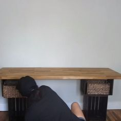 DIY your own desk easily with affordable materials - Woodworking Diy Home Crafts, Diy Home Decor, Room Decor, Diy Interior, Interior Design, Diy Bathroom, Diy Desk, Woodworking Crafts, Diy Furniture