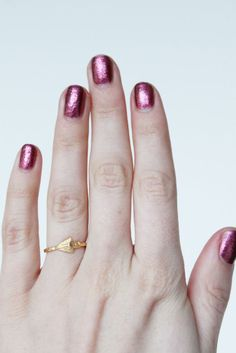 This little spear ring has the sweetest detailing. $12