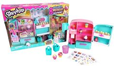Besides the and there are various playsets that you can get, all with exclusive Shopkins you can only get in the playsets: EASY SQUEEZY FRUIT & VEG STAND (Season This. Shopkins Playsets, Shopkins Season 2, Shopkins World, Shoppies Dolls, Traditional Clocks, Barbie Sets, Slime Craft, Moose Toys, Monster High Birthday