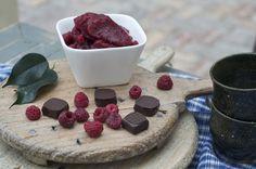 Raspberry Ganache in dark chocolate. Hand-made artisan chocolate by Bennetts of Mangawhai. Raspberry Ganache, Artisan Chocolate, Chocolates, Panna Cotta, Dark, Ethnic Recipes, Handmade, Food, Dulce De Leche
