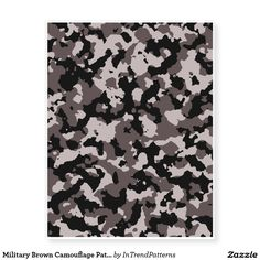 Military Brown Camouflage Pattern Temporary Tattoos