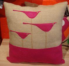 3 bird pillow