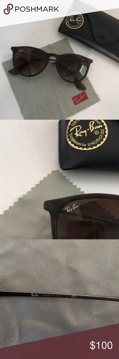 Ray-Ban Erika glasses Perfect condition Erika style ray-bans, brown tortoise shell color. I've had them for a bit and not worn them, just not my style anymore so trying to sell so I can get a new pair!! Comes with case and cleaning cloth 😊 Ray-Ban Accessories Sunglasses