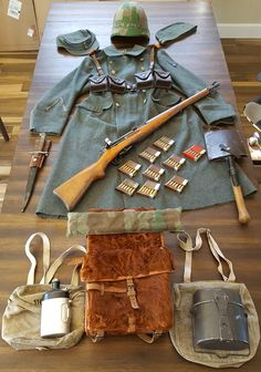 Here's some of my collection of Swiss items from the World War II era. Swiss Army Backpack, Army Gears, Ww2 Uniforms, Army Infantry, Military Insignia, Army Uniform, Military Equipment, Military History, Armed Forces