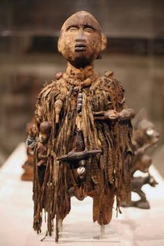 Kongo male power figure (nkisi), wood and other materials, from the Democratic Republic of the Congo, 19th–20th century; in the Metropolitan...