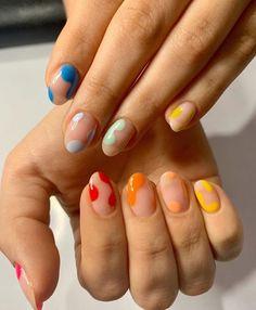 painting nails with acrylic paint ~ painting nails tips hacks + painting nails + painting nails at home + painting nails aesthetic + painting nails videos + painting nails tips + painting nails at home ideas + painting nails with acrylic paint Cute Acrylic Nails, Cute Nails, Pretty Nails, Gel Nail Art, Nail Polish, Minimalist Nails, Nail Swag, Aycrlic Nails, Hair And Nails