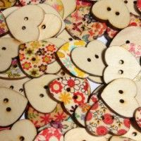 Flora Mixed Wooden Heart Buttons Sewing Craft Two Holes Buttons Childhood Games, Heart Button, Wooden Hearts, Sewing A Button, Vintage Buttons, Sewing Crafts, Valentines Day, Craft Supplies, Flora