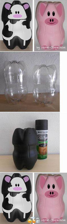 contenitori simpatici con le bottiglie