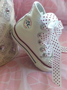 Bling Converse, Baby Converse, White Converse, My Little Girl, Little Princess, Baby Girl Shoes, Girls Shoes, Kid Shoes, Baby Girl Fashion