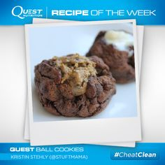 Healthy? Yes. Delicious, fun, and easy to make? You bet! Perfect for your upcoming Halloween parties. #Quest Ball Cookies from Kristin S.! Click for recipe! #CheatClean #OnaQuest