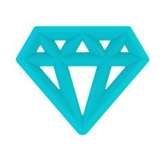Silicone Teething Toy Diamond Blue