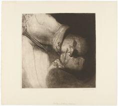 "Käthe Kollwitz. Death, Woman, and Child (Tod, Frau und Kind). (1910, printed c. 1931 or after). Etching and drypoint. plate: 16 1/16 x 16 3/16"" (40.8 x 41.1 cm); sheet: 21 7/8 x 24 1/8"" (55.6 x 61.2 cm). Alexander von der Becke, Verlag des graphischen Werkes von Käthe Kollwitz, Berlin. Otto Felsing, Berlin. One of several impressions of state XIV (total number unknown). Gift of Mrs. Theodore Boettger. 286.1948. © 2018 Artists Rights Society (ARS), New York /..."